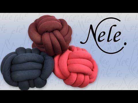 Knotenkissen aus XXL Garn von Online Wolle, Knoten,DIY Anleitung by NeleC. - YouTube