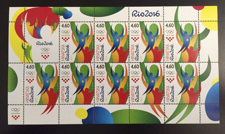 Croatia - 2016 Rio Olympic Games, Full Sheet (MNH)