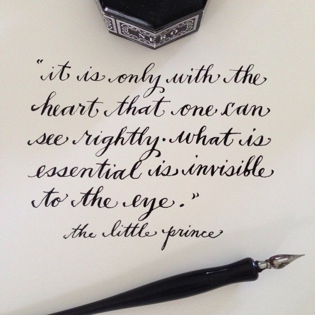 That Which Is Essential Is Invisible To The Eyes: It Is Only With The Heart That One Can See Rightly....what