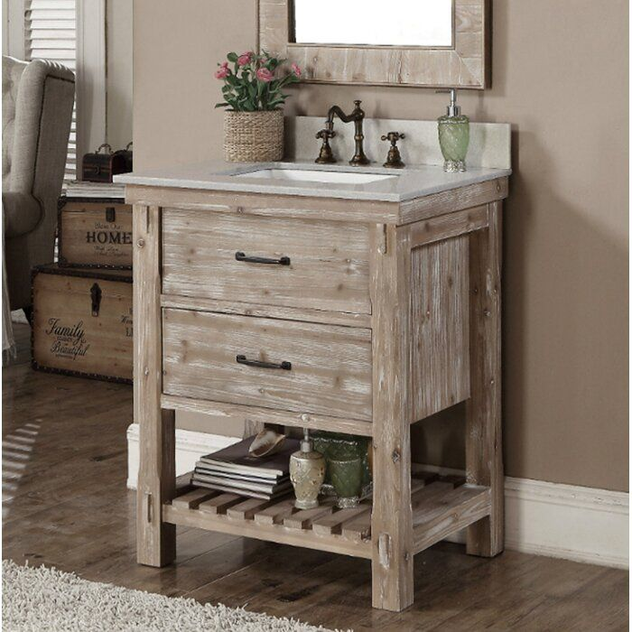 Clemmie 31 Single Bathroom Vanity Set With Images Rustic Bathroom Vanities Small Bathroom Vanities Single Bathroom Vanity