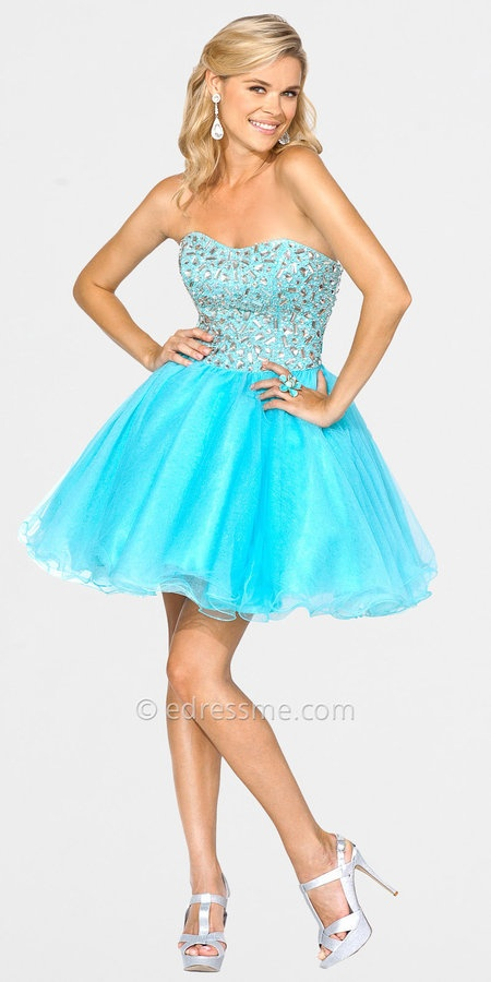 Poofy Short Prom Dresses - Holiday Dresses