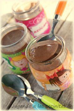 Yogures de chocolate (Thermomix)