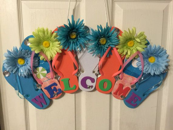 Flip flop wreath by ShareWithPennies on Etsy