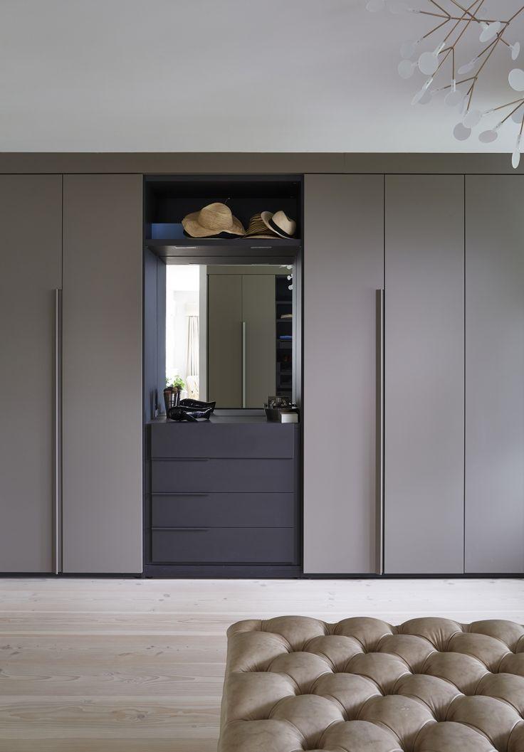 closet quarto casal cinza chumbo concreto