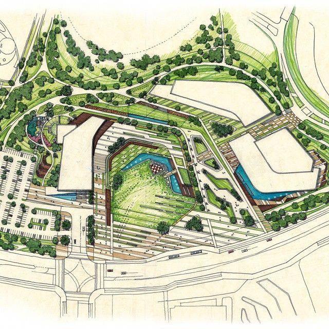1 Complex Cultural Space 공원시설 도서관 미술관 음악당 Lib Complex Cultural Architecture Design Drawing Landscape Architecture Design Landscape Architecture