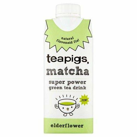Teapigs Matcha Super Power Green Tea Drink with Elder Flower Flavour, 330ml