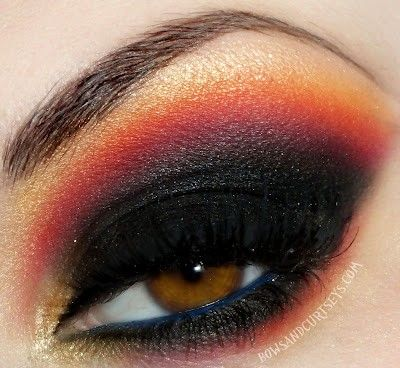 Capitol Hunger Games makeup for a Halloween costume.
