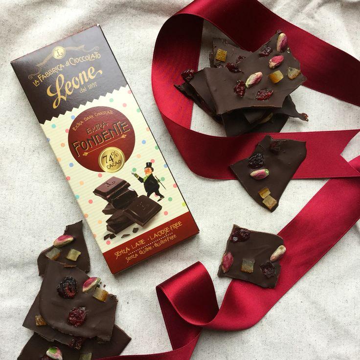 74% dark chocolate relish. La fabbrica di cioccolato Leone.