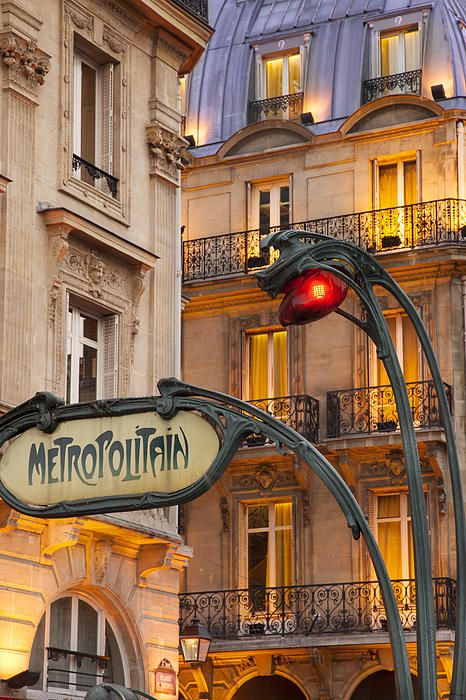 Evening at the Metro stop Saint Michel in the Latin Quarter, Paris France by Brian Jannsen
