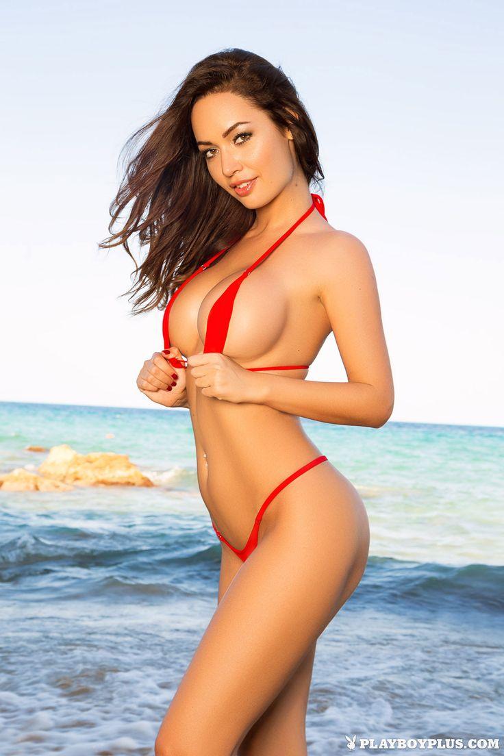 Adrienn Levai - Micro red bikini