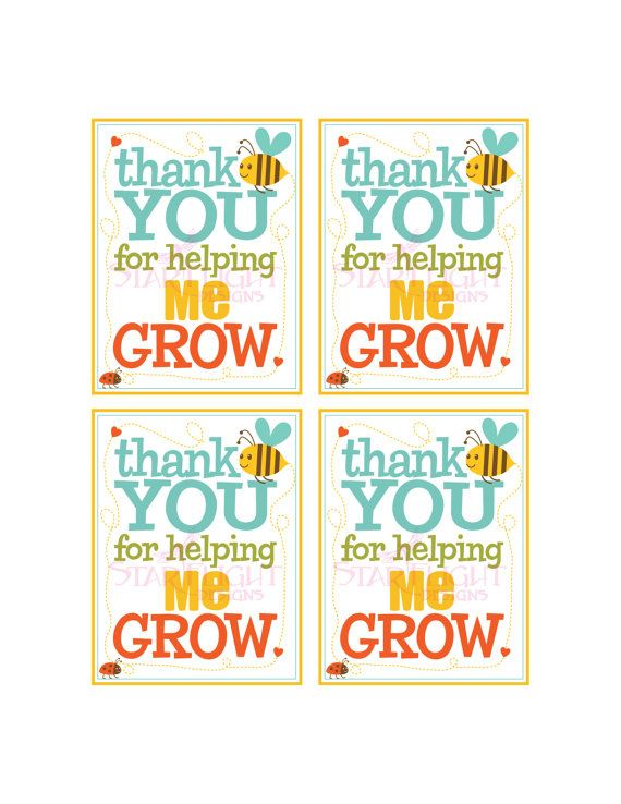 Thanks For Helping Me Grow Quotes: 56 Best Images About Teacher Appreciation Day On Pinterest