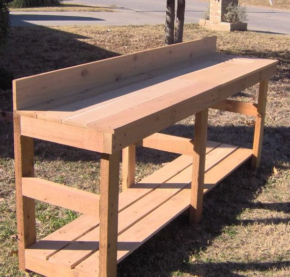 Great Brand New Large 8 Foot Cedar Potting Bench