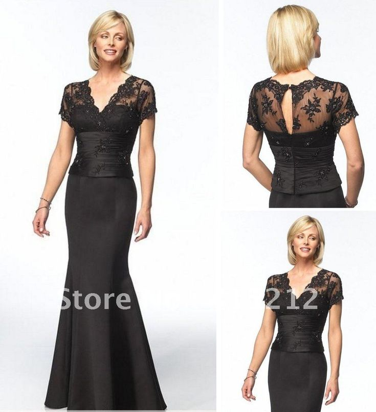 Cherlone plus size evening dress sleeves