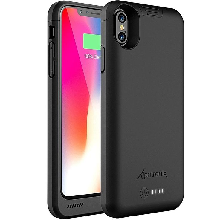 Iphone X Extended Battery Slim Rechargeable Backup Charger Case 4200mAh (Black) #DealsToday