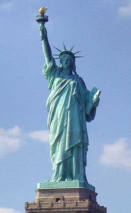 """Symbol of Freedom    Dedicated in 1886, """"Liberty Enlightening the World"""" (known as The Statue of Liberty) is a gift from France to the United States of America to commemorate the 100-year anniversary of the birth of liberty in the US. and the end of slavery after the Civil War. She has since become a universal symbol of freedom, embraced by advocates of self-government the world over."""