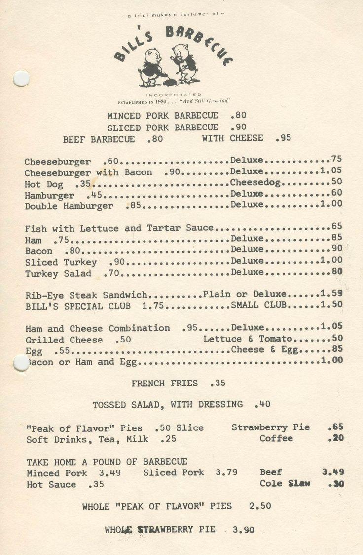 33 best Yesterday\'s Menu images on Pinterest   Vintage menu, Dinner ...