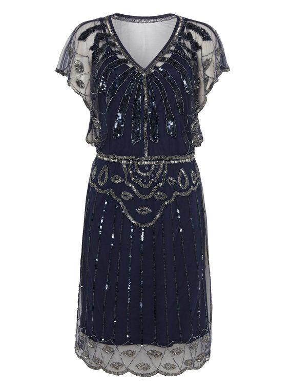Blue dress lace 20s
