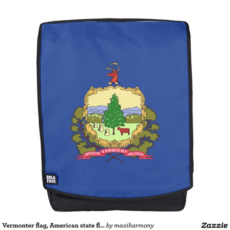 Vermonter flag, American state flag Backpack