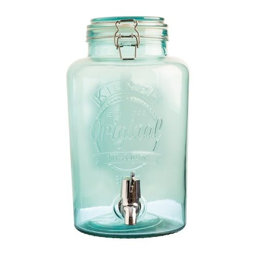 Kilner Blue Glass Drinks Dispenser 5L