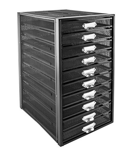 From 45.00 Osco M10t-blk Wire Mesh 10 Drawer Paper Sorter - Black
