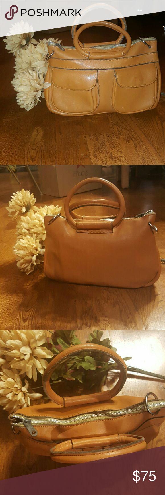 Vintage Burnt Orange clutch bag Beautiful leather vintage bag CrystalSheri Bags Clutches & Wristlets