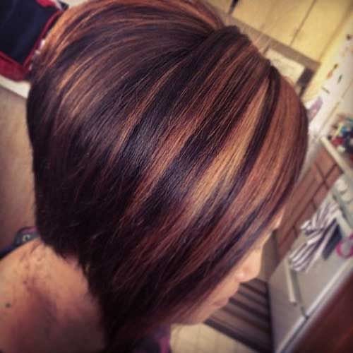 Remarkable 1000 Ideas About Highlighted Bob On Pinterest Short Blunt Bob Hairstyles For Women Draintrainus