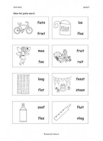 Leren lezen F 2 woorden 1