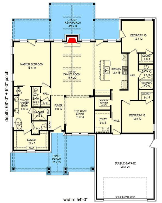Detailed Craftsman with Split Bedroom Layout - 68527VR | Architectural Designs - House Plans