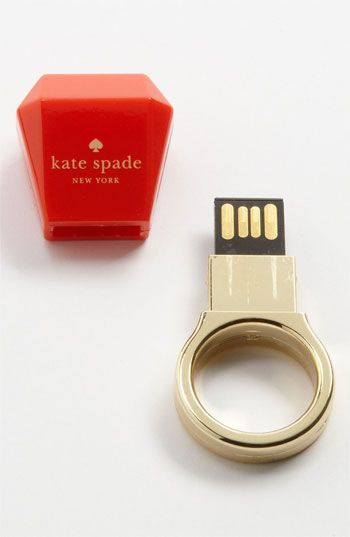 kate spade new york 'ring' USB drive-- this is the most brilliant thing i've ever seen.  geek chic.