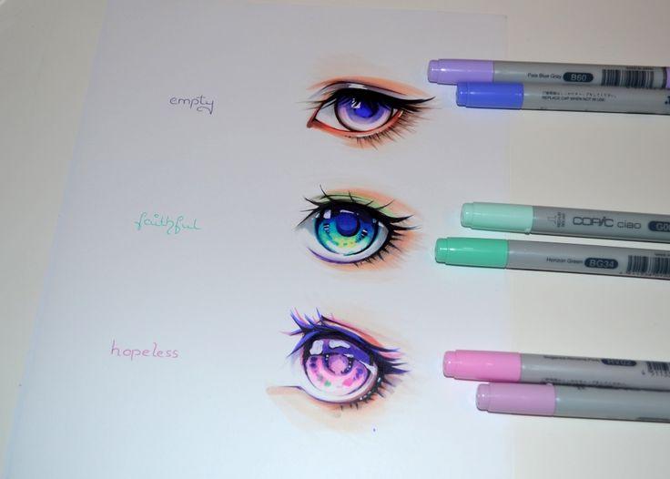 Colorful Manga Eyes by Lighane