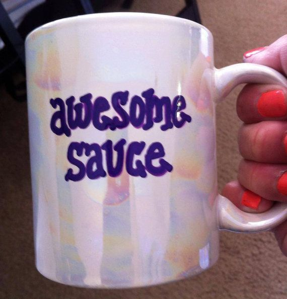 Awesomesauce awesome sauce handpainted by GorgeousGlassware, $11.00