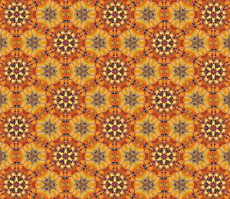 Oil on Canvas Kaleidoscope #Kaleidoscope #Teleidoscope #patterns #colours #yellow #gold #mandala #mosaique #design #digital art #photoshop