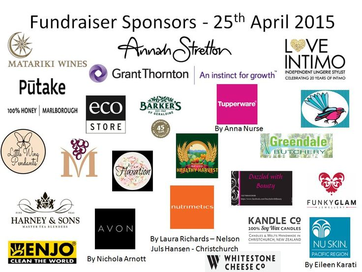 Sponsors of my 2015 Fundraiser for RAW. Visit www.raw.org.nz for more information.Fantastic event raised just over $1800.00.Great collaboration of women working together.