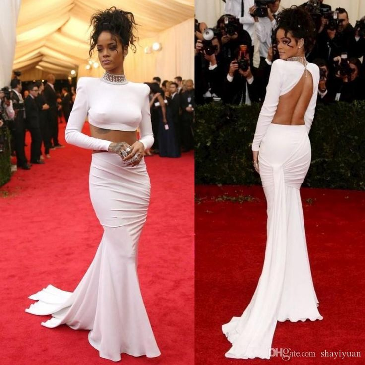 Show your best to all people even in the evening and then get two piece backless chiffon evening dresses met gala rihanna long sleeve evening gowns high neck red carpet dress in shayiyuan and choose wholesale evening dresses black,evening dresses for girls and evening dresses for larger ladies on DHgate.com.