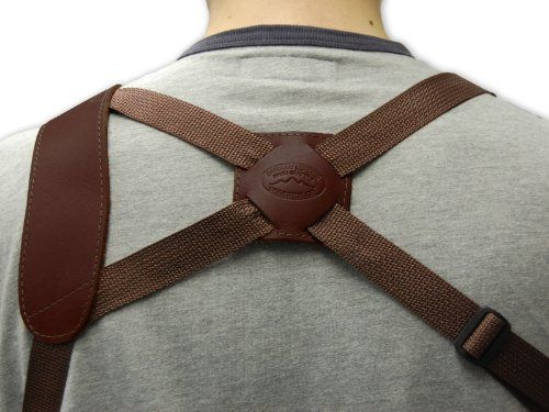 Barsony Brown Leather Cross Harness Shoulder Holster for Colt 1911 Officer right