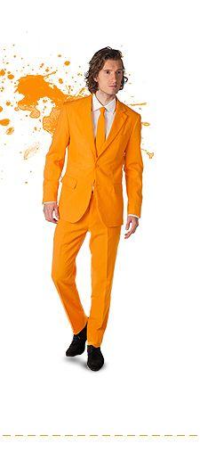 Oranje heren kleding