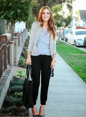 足元が綺麗に見えるエナメルパンプスと合わせるのが◎ジョガーパンツコーデ、スタイル・ファッションの参考に♪