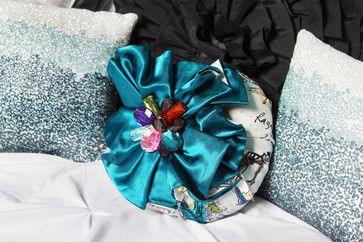 Brandi Renee Designs Custom Jewelry Box Pillows - This unique shaped custom pillow is the perfect complement to the Paris inspired bedroom for our client's teen daughter. - Brandi Renee Designs, LLC - www.brandireneedesigns.com