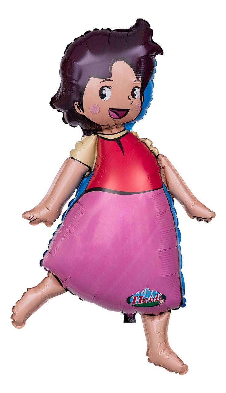 Heidis Welt sind zwar unbestritten die Berge, aber auch in den Lüften macht sie eine prima Figur. Das beweist unser Heidi Folienballon.