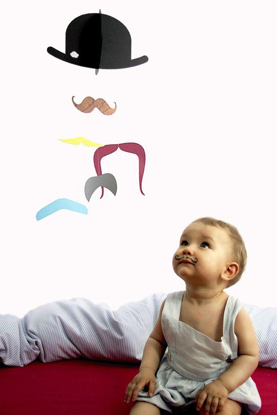 Mr. Moustache - nachhaltiger Spaß von nicht nur fürs #Kinderzimmer. Mehr erfährst du unter: www.beesandnectaries.de