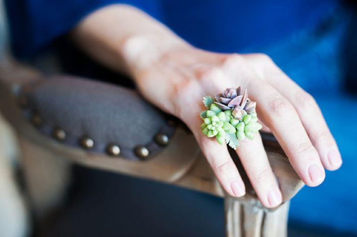 schmuck design echte pflanzen die noch wachsen ringfinger