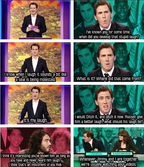 Rob Brydon vs. Russell Brand. Love them both!