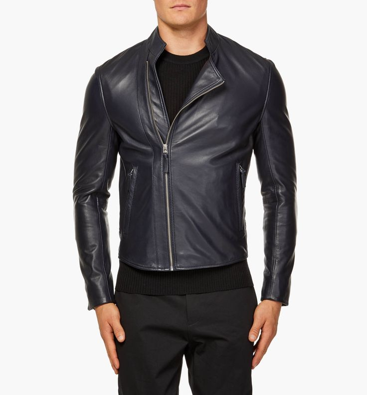 The Navy Leather Biker Jacket is a wardrobe hero this season. The classic shape in the modern navy adds an edge to your look, be it a shirt and tailored pants to wear on a night out or your favourite jeans and a t-shirt for the weekend.