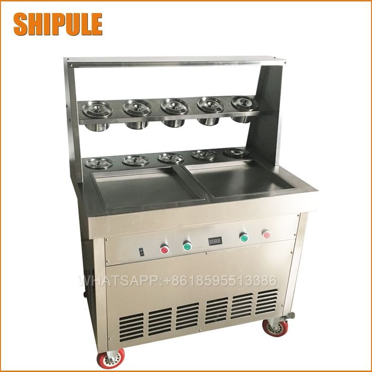 1738.40$  Watch here - http://aliw3a.shopchina.info/1/go.php?t=32816762050 - Free shipping 35cm big pan rolled fried ice cream machine double square pan thailand ice roll machine ice cream maker  #bestbuy