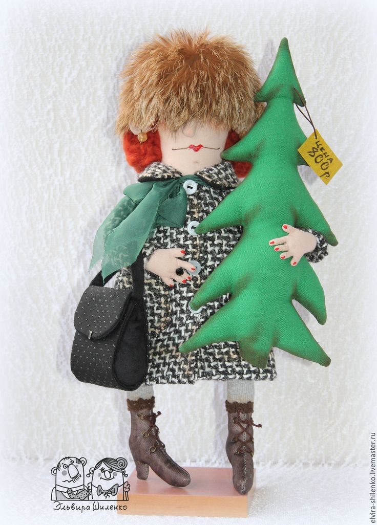Купить Я домой купила ёлку - чёрно-белый, женщина, подарок на новый год, 2016 год, елка
