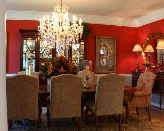 39 best living room images on pinterest red rooms red for Dining room decorating ideas red walls