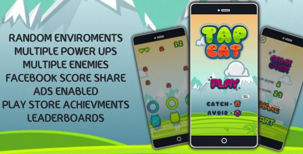 TAP CAT - ADS Enabled+Achievments+FB score post+Leaderboards Download: https://codecanyon.net/item/tap-cat-ads-enabledachievmentsfb-score-postleaderboards/17387698?ref=Ponda #reskinapp #app #android