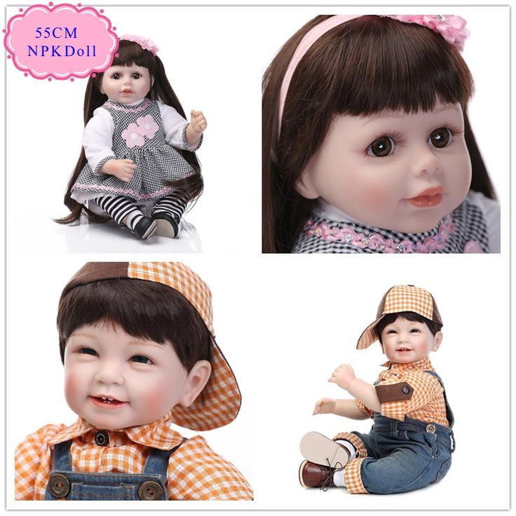 (79.57$)  Watch more here - http://aik95.worlditems.win/all/product.php?id=32712362045 - New Blue /Brown Eyes Cheap Reborn Doll With Cool Baby Doll Clothes Good Price Reborn Toddler Dolls Hot Welcome Bebe De Silicone