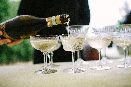 hire vintage champagne saucers