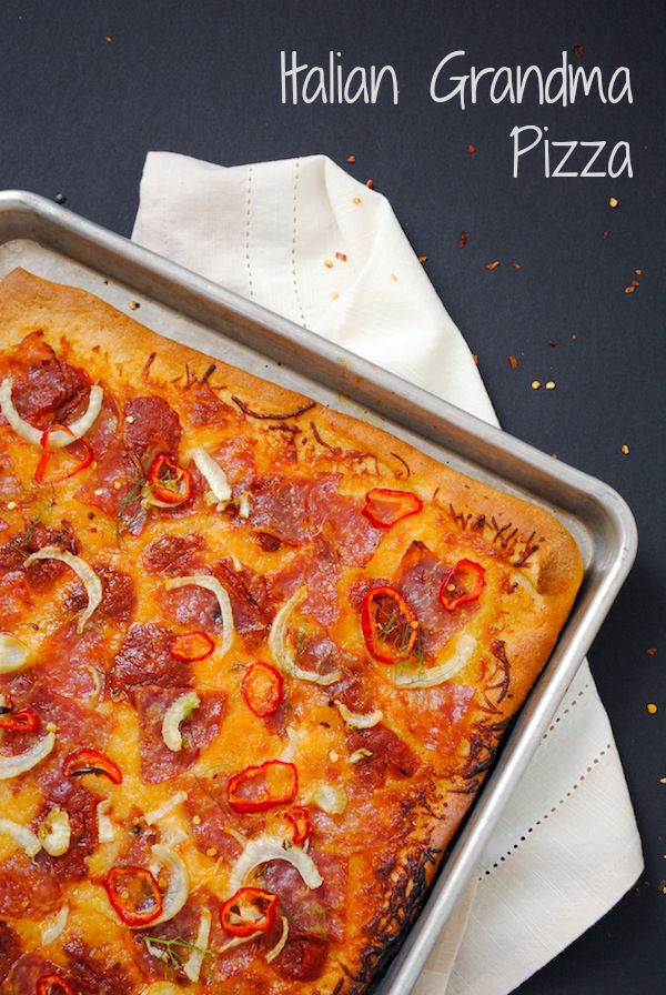 Italian Grandma Pizza - A spicy and sweet pizza topped with soppressata and fennel. | foxeslovelemons.com